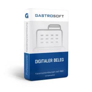 Verpackung eines Paketes Digitaler Kassenbon von GastroSoft.