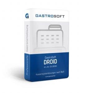 Verpackung einer professionellen Gastronomielösung, Kassensystemlösungen - GastroSoft Droid Mobile