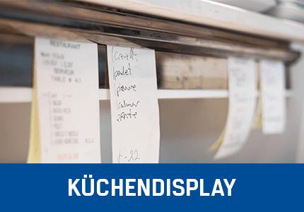 Kassensoftware Erweiterung - Küchendisplay Add-On von GastroSoft, Aufgehängte Bestellnotizen in einer Küche
